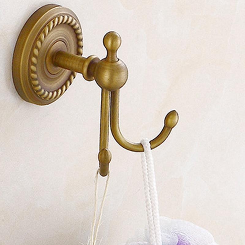 Antique Bronze Color Brass Wall Hooks Mounted Bathroom Coat Hook Bathroom Accessories|Hooks & Rails|   - title=