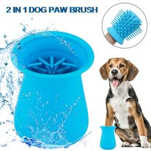 Silicone Pet Wash Cup Dog Paw Cleaner Cup Pet Foot Washer Dog Cleaning Brush Claws Massage Grooming Pet accessories hot sale(China)