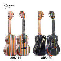 23 Inch 4 String Rainbow Ukulele Solid Wood Striped High Quality Concert Mini Guitar Acoustic Guitar UK2361