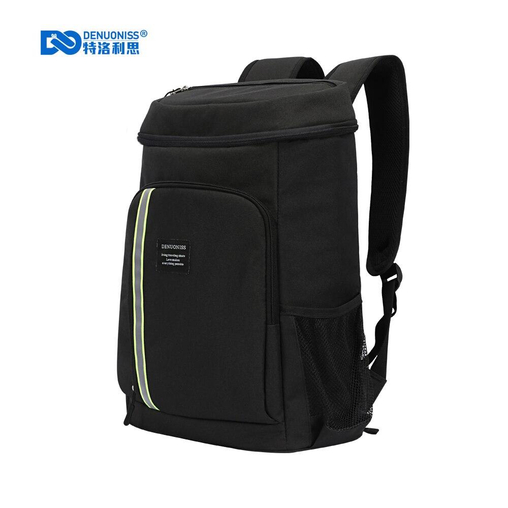 DENUONISS 30L Unisex Insulation Cooler Backpack Travel Picnic Thermal Cooler Bag Men Women Large Capacity Tourit Backpack