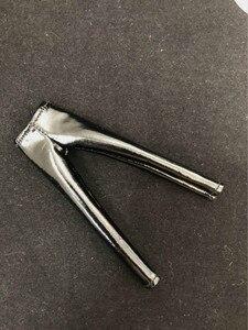 Image 2 - Масштаб 1/12, женские кожаные черные колготки, брюки для 6 дюймовых экшн фигурок TBLeague