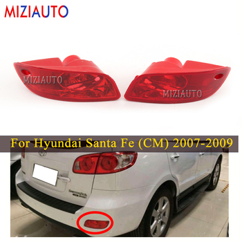 MIZIAUTO Rear brake light For Hyundai Santa Fe (CM) 2007 2008 2009 For Car led Accessories Lamp Rear Bumper Light Tail Stop Lamp for toyota tundra v8 2007 2016 rear 3rd brake cargo led tail light 08 09 black