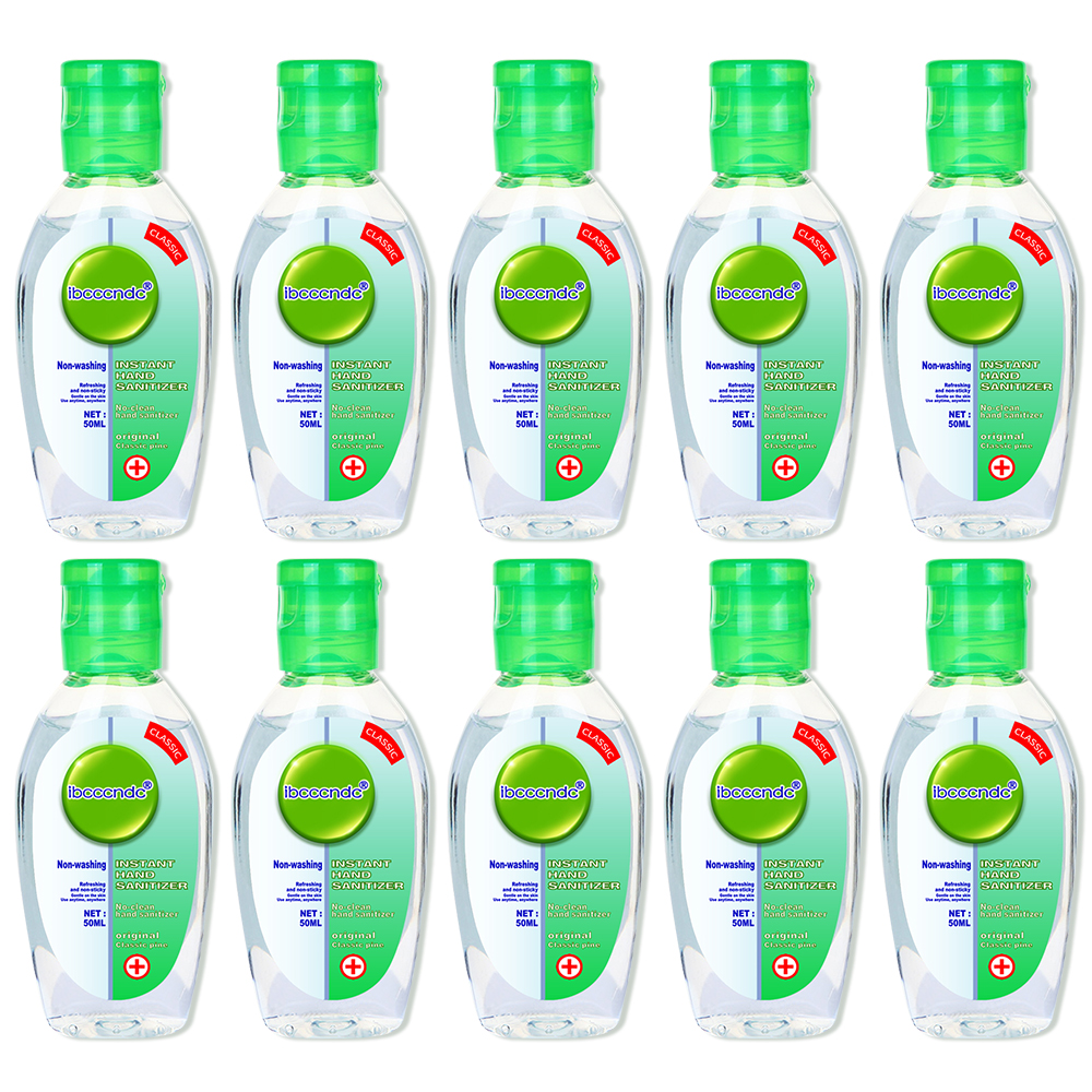 10PCS Quick-Dry Anti Bacterial Hand Gel Hand Disinfection Gel Handgel Sanitiser For Kids Adults Safe 50ml Wholesale