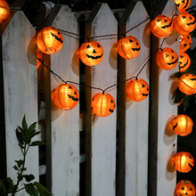 1.5m 10led Lantern String Lights For Halloween Party Tree Fence Decor Home Indoor Decoration Pumpkin Light Lig