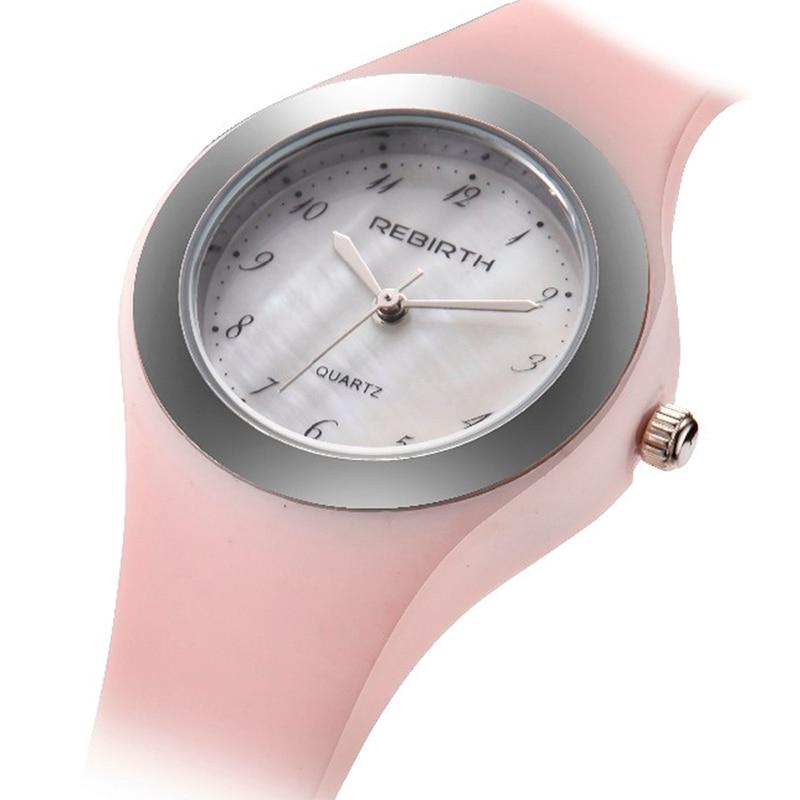 Women Watch Brand Ladies Quartz Small Wristwatch Cute Pink Silicone Strap Female Women\'S Wrist Watches Relogio Femininos