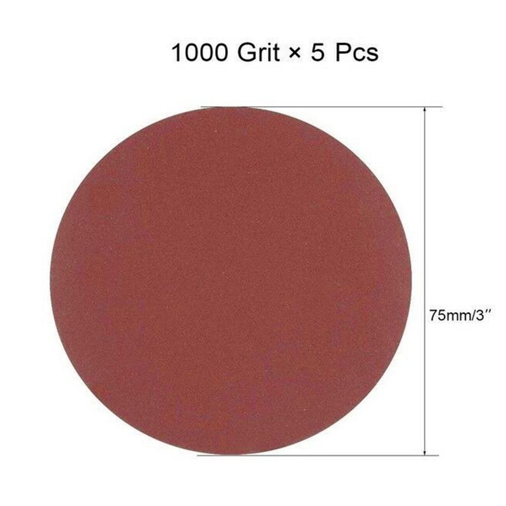 20pc Hook&Loop 3 Inch 1000 1500 2000 3000 Grit Sand Paper Sanding Polishing Disc