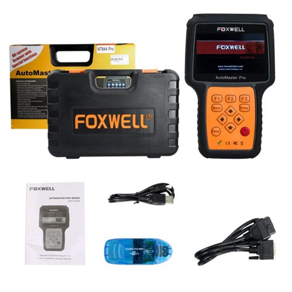 Foxwell NT644 Pro Unterstützung 60 + Macht Full System-Diagnose-Scanner mit Spezielle Funktionen Update Online