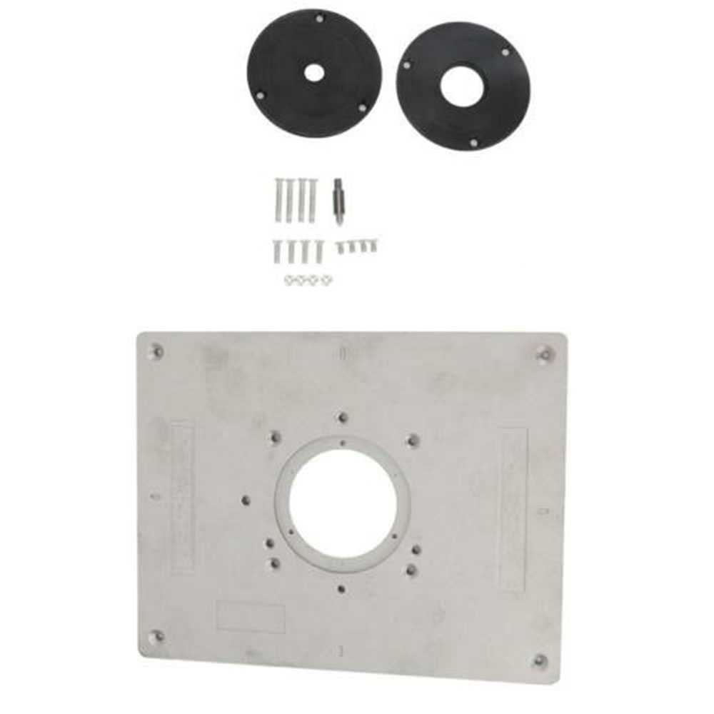 Aluminum Alloy Router Table Insert Plate Woodworking Milling Machine Trimmer Hole Spacing 73*94mm High Quality