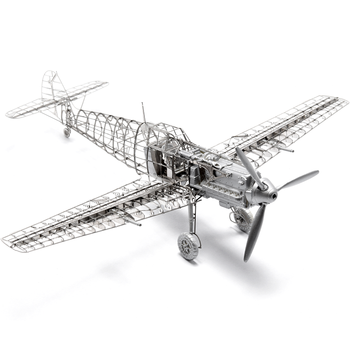 New 3D Metal Puzzle stainless steel skeleton internal structure assembling plane model puzzle Toys Gift Hot Sale