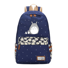 Totoro Backpack Flower Point Printed Laptop Bookbag School Bag Travel bags Daypack for Teenagers Girls Kids