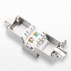 Image 4 - RJ45 Keystone, cat 6a/7, sans outils, Module en alliage de Zinc, blindé, adaptateur pour réseau, 10 go