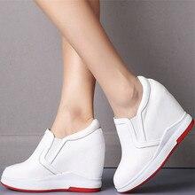 Stivaletti con plateau donna zeppe in vera pelle décolleté con tacco alto scarpa donna traspirante punta tonda moda Sneakers scarpe Casual