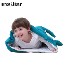 Childrens Shark Sleeping Bag Big Holding Warmed in Autumn and Winter