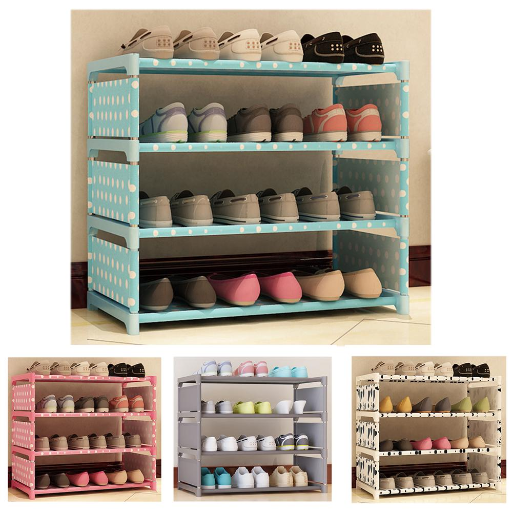 How to buy  Multi Layer Shoe Rack Nonwovens Steel Pipe Shoe cabinet Shelf Storage Holder Bedroom Organizer Spac