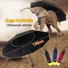Sun-Parasol Large-Umbrella Rain 130CM Outdoor Windproof Women Folding Female Strong Huge
