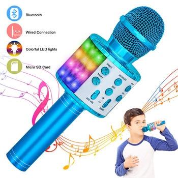 Wireless Bluetooth Karaoke Microphone, Portable Speaker Machine, Handheld Home KTV Player with Record Function 1