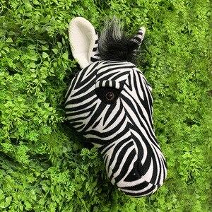 Image 4 - 2021 Zebra Caccia decorazioni hunter safari decorazione della parete di animali di peluche realistico reallife per la scuola materna o camera dei bambini foresta