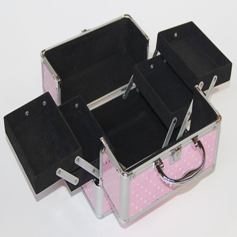 Offre spéciale 24cm * 17cm * 18cm rose Kitty chat maquillage sac de voyage sacs à cosmétiques pour femmes sac à main bijoux boîte de rangement, trousse maquillage
