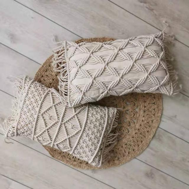 Macrame Handmade Rectangle Cushion 2