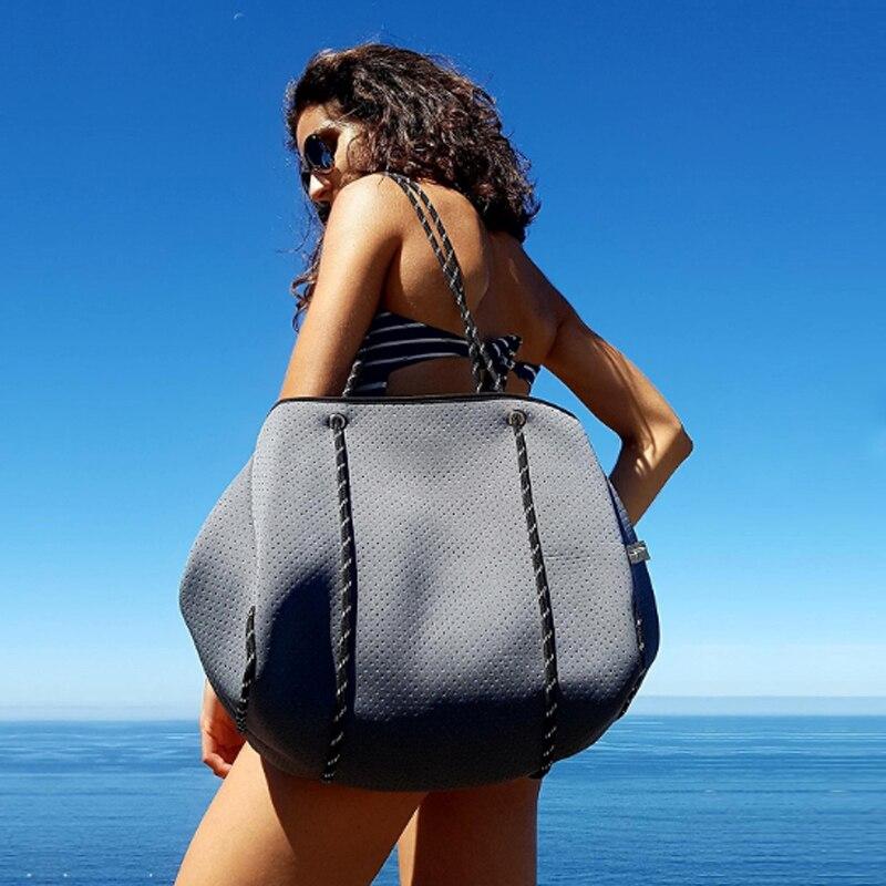 Роскошная сумка через плечо из неопреновой дышащей ткани для дайвинга, вместительная Повседневная Сумка-тоут, сумки с верхней ручкой