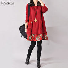Zanzea 2021 сезон осень зима; Женская обувь в винтажном стиле;