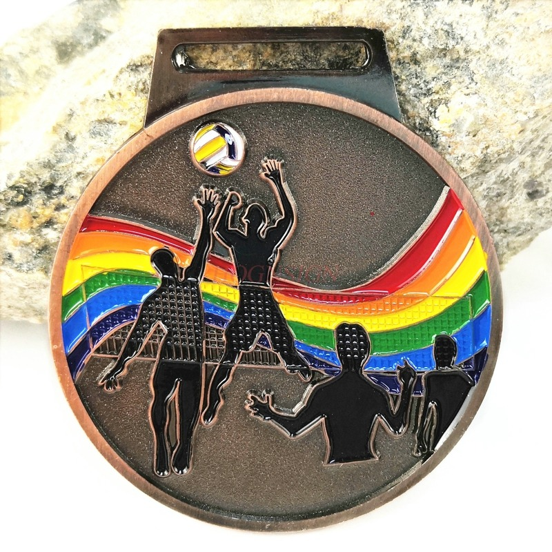 Medal Volleyball Metal Competition Champion Gold And Silver Bronze Club Kindergarten Factory Sports Competition