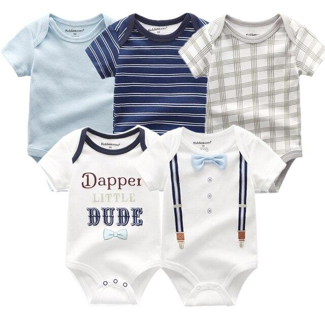 2020 śpioszki dla niemowląt 5-pack infantil kombinezon chłopiec i dziewczyny ubrania lato wysokiej jakości paski noworodka ropa bebe odzież kostium