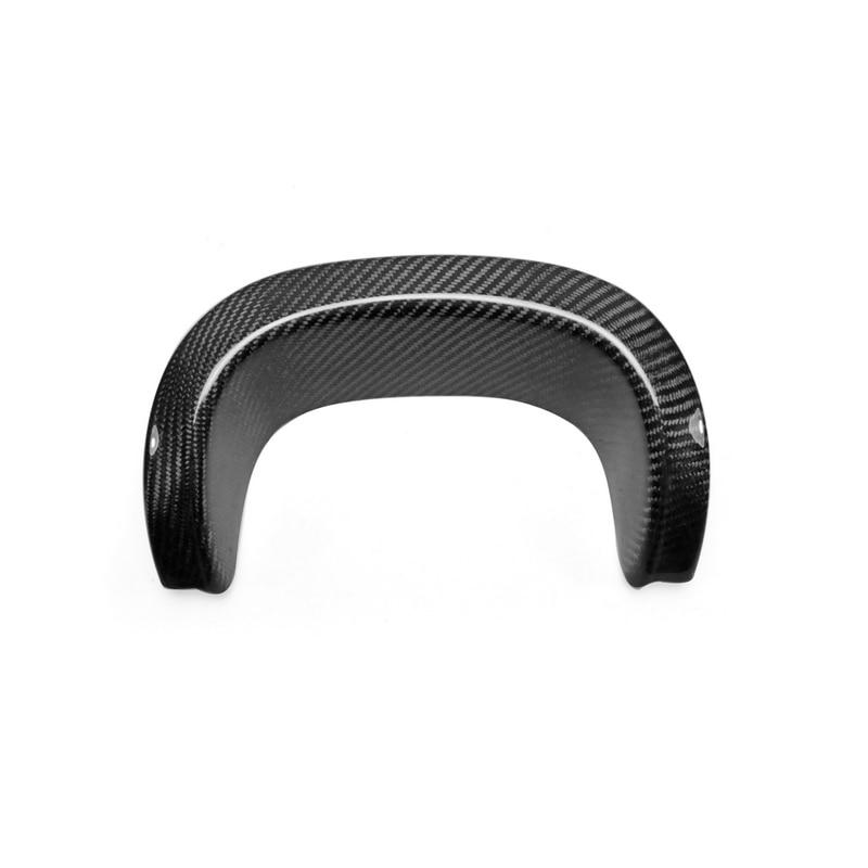 car accessories carbon fiber muffler exhaust heat shield glossy fibre rear bumper heatshield kit for porsche 981 boxster cayman