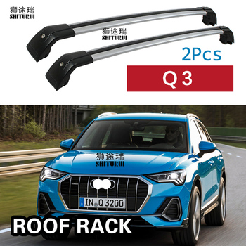 SHITURUI 2Pcs Roof Bars for Audi Q3 5door SUV 2012 - 2018  Aluminum Alloy Side Bars Cross Rails Roof Rack Luggage Carrier