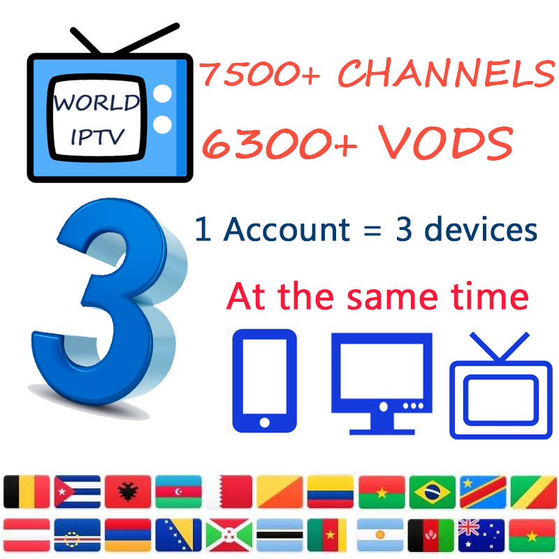 World IPTV Subscription Iptv Set Top Box With VOD Adult Arabic  Spain  Portugal USA UK Support For Smart TV M3U MA9