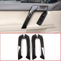 4PS Car ABS Interior Door Handle Trim For Toyota Land Cruiser Prado FJ150 150 2010 2018 Year Accessories