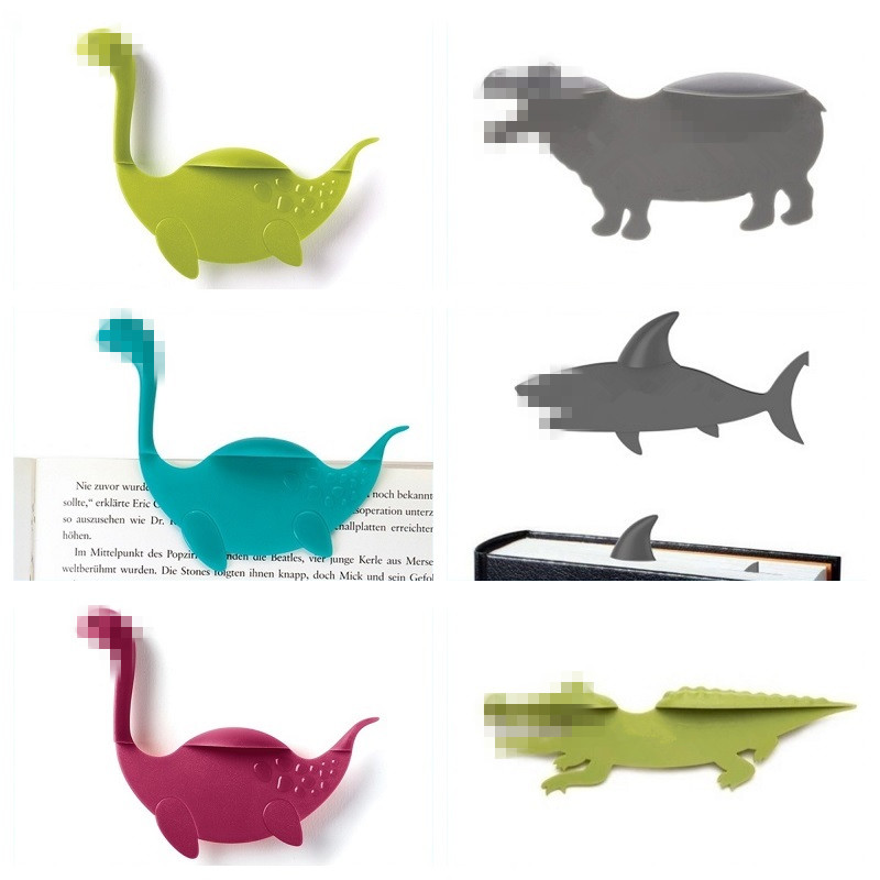 Creative Shark Hippo Cartoon Animals Bookmark Reading Bookmarks Book Holder Gift Stationery