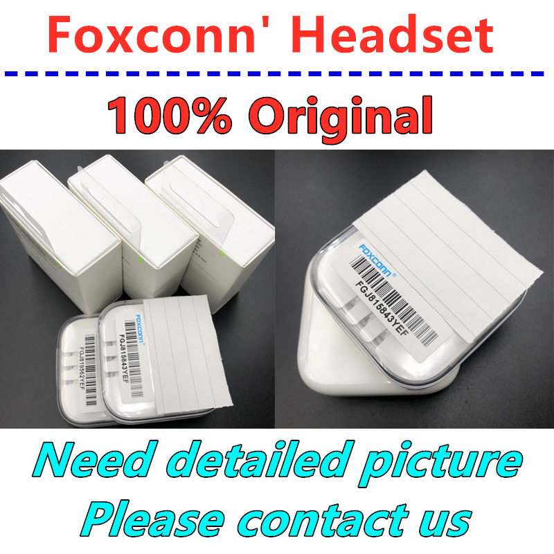 10pcs Original Quality From For Foxconn Headset In Ear Headphones With Remote Line Mic For Iphone 4s 5s 5c 6 6S Plus Earphones