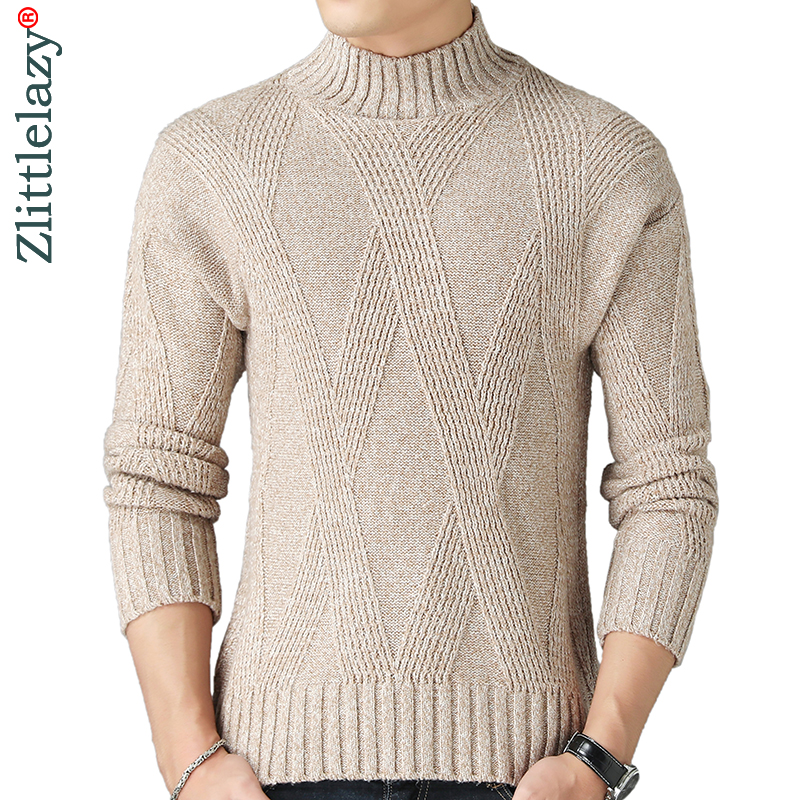 2019 New Thick Warm Winter Turtleneck Knitted Pull Sweater Men Wear Jersey Dress Pullover Knit Mens Sweaters Male Fashions 02142