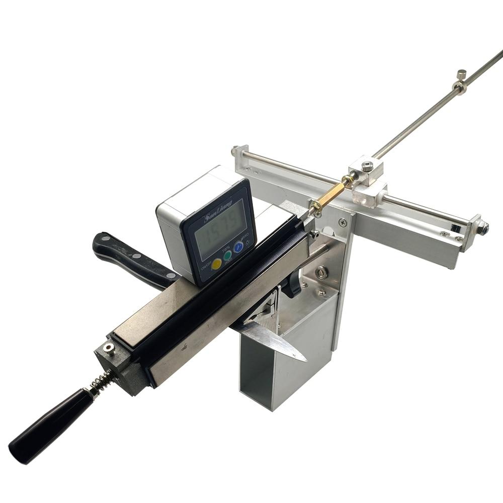 Pince d'affûteuse de couteau de cuisine avec la machine 200 #500 #1000 # diamant pierre à aiguiser cuir strop Sy-003