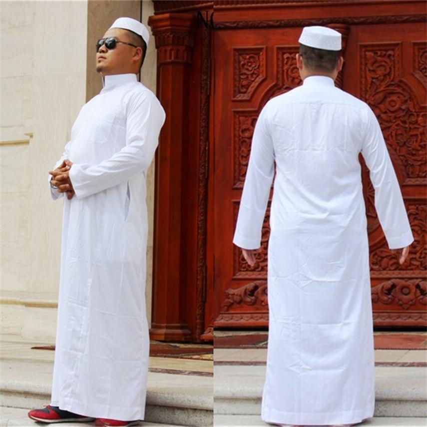 Мусульманская одежда для мужчин, мусульманская мода, джубба тюбе, белый карфтан, молитва, повседневные халаты с длинными рукавами, Eid Mubarak Abaya...