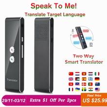 Портативный Умный голосовой переводчик в режиме реального времени многоязычный речевой интерактивный переводчик 3 в 1 голосовой текст Bluetooth переводчик