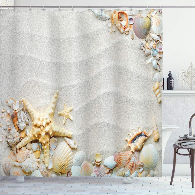 Starfish Shower Curtain Seacoast With