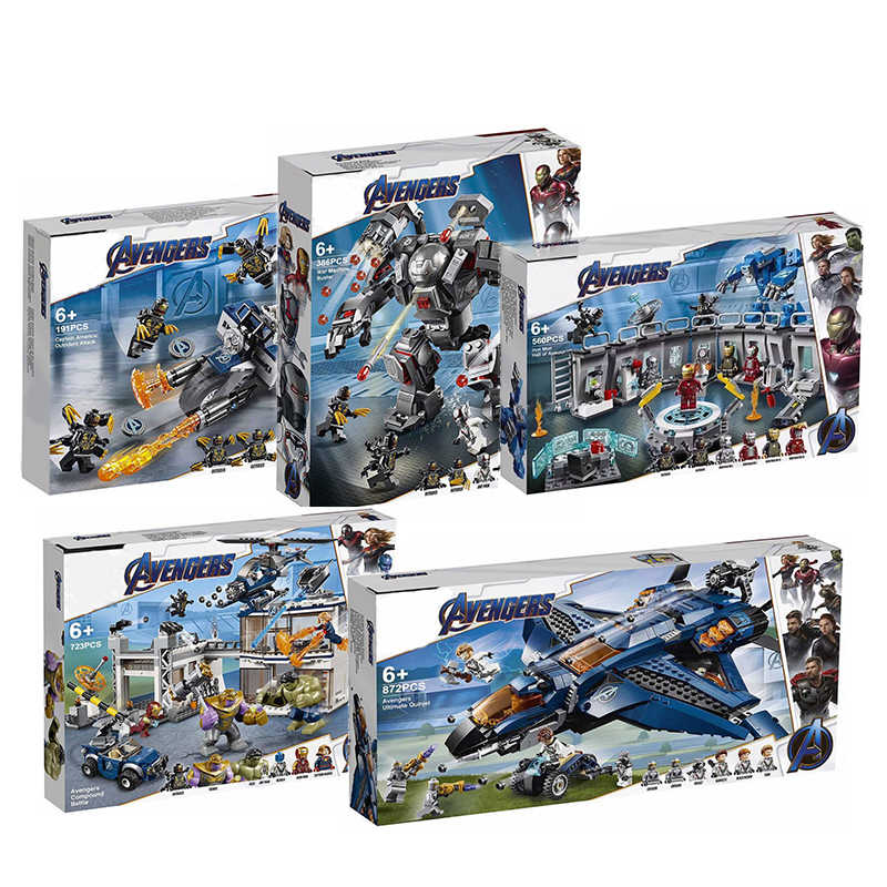 2019 Avengers 4 Endgame Ultimate Quinjet Set Legoings 76107 76108 76123 76124 76126 76131 Building Blocks Brick Kids Toys