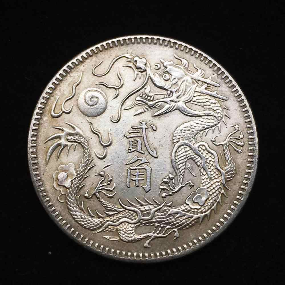 Chinese mascot dragon coin truly flying dragon Gold Silver Coin Art Collection monedas magic Coins Merry Christmas Gift