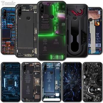 Перейти на Алиэкспресс и купить Черный силиконовый чехол для Lenovo K10 Plus A6 Note Z6 Pro 5G Lite Yout TPU Мягкий мобильный телефон, чехол внутри электроники