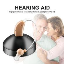 Rechargeable Mini Plastic Hearing Aids Sound Voice Amplifier Low Noise Behind The Ear JZ-1088F For The Elderly Hearing Loss performance of ric hearing aids in sloping sn hearing loss