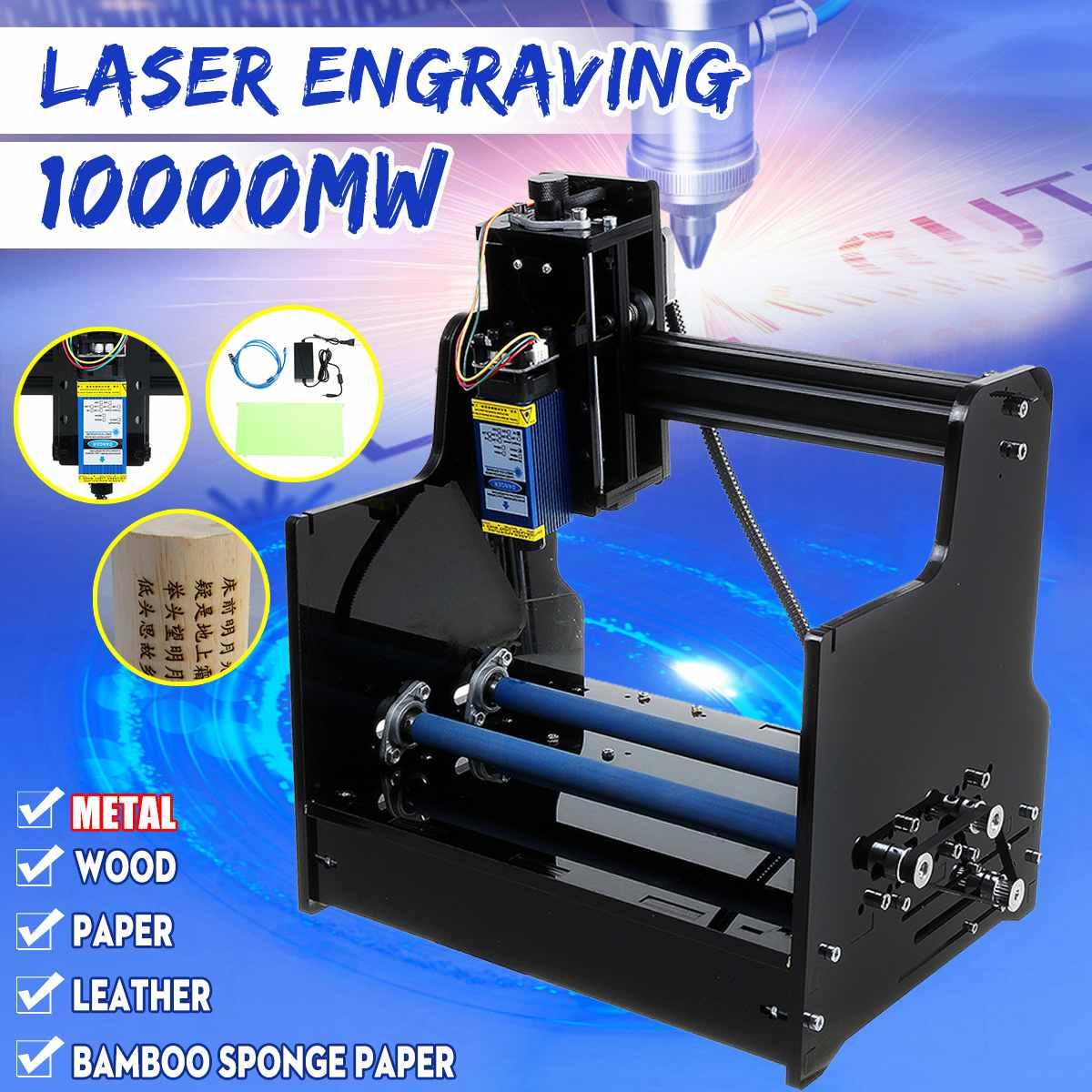 10000MW Diy Mini Laser Engraver Engraving Machine Metal Engraving Machine Desktop CNC Wood Router Printer Metal Carving Tools