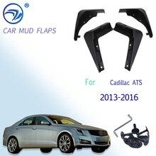 4 ピース/セット車のフロントリア泥フラップスプラッシュガードキャデラックats 2013 2014 2015 2016 用フェンダーマッドガード泥フラップ