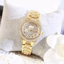 Casual Women Watches Luxury New Brand Stylish Rhinestone Diamond Silver Gold Lady Wristwatches Female Wristwatch bayan kol saati(China)