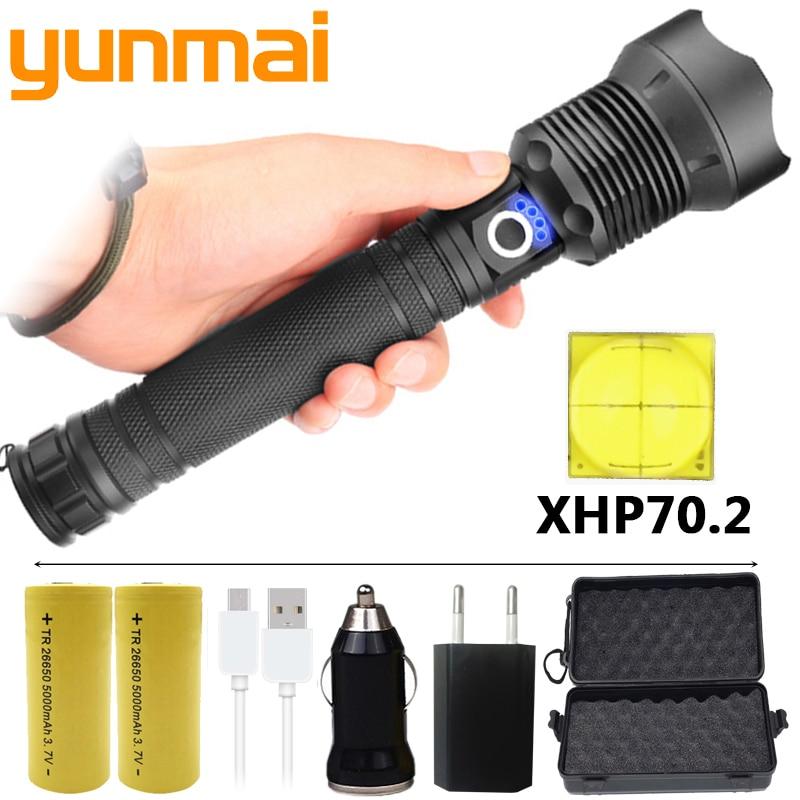 FX-DZ901282 The Most High Powerful Tactical LED Flashlight Torch 100000LM CREE XLamp XHP70.2 Light 26650 18650 Battery Lantern