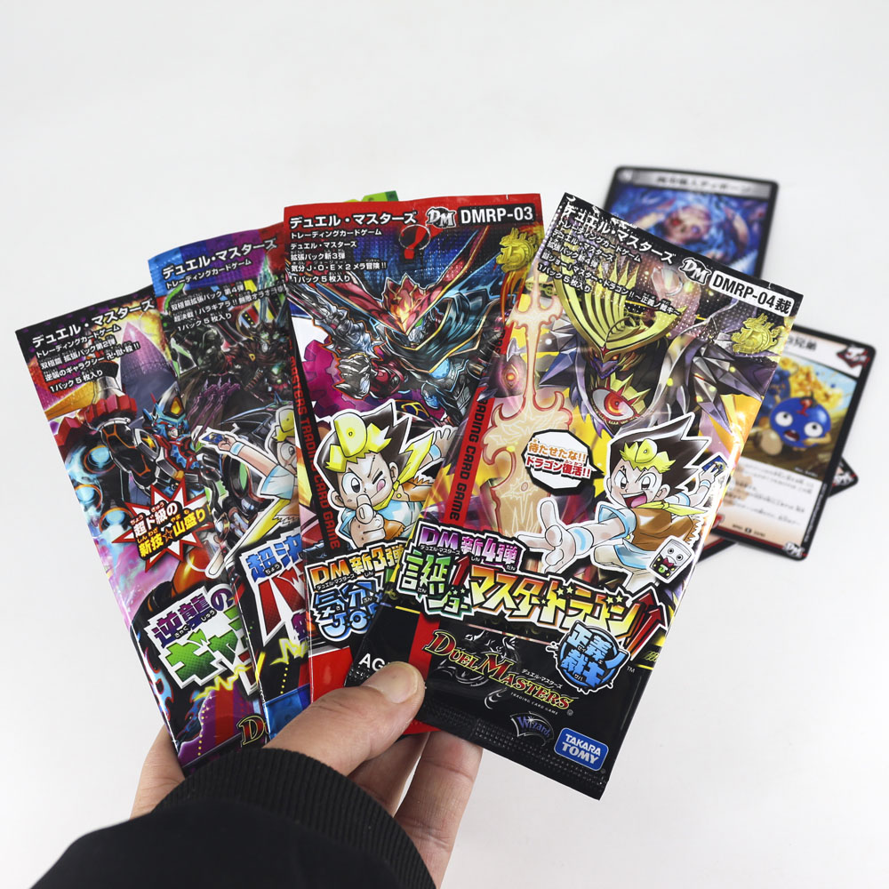 Original Takara Tomy TCG Board Game Japan Anime Duel Masters Crads Collections Boy Toys For Children 5pcs/bag