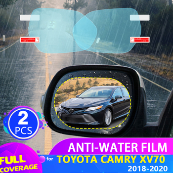 Car Rearview Mirror Film for Toyota Camry XV70 70 2018 2019 2020 Full Cover Anti Fog Rainproof Sticker Accessories image