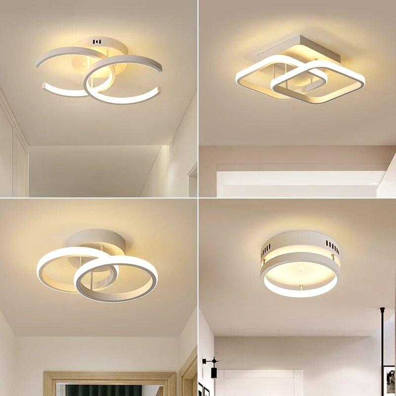 Modern LED Ceiling lights for living room Hallway Balcony Corridor Bedroom Aisle Home Black White LED Ceiling Lamp 110V/220V