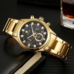 Image 5 - Мужские наручные часы WWOOR, роскошные золотые наручные часы с хронографом, 2019